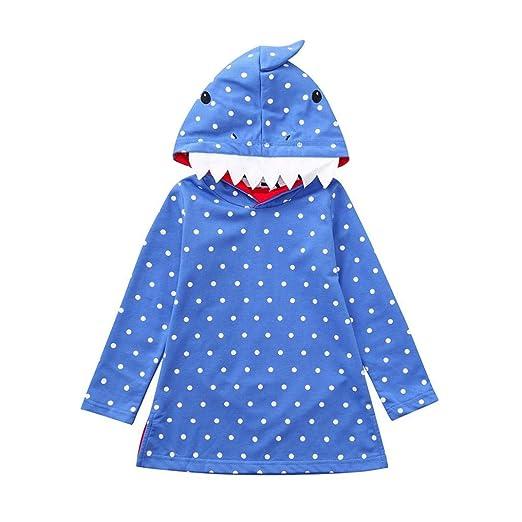 da93d0b4f Amazon.com  Hatoys Baby Girls Stereoscopic Rainbow Striped Hoodie ...