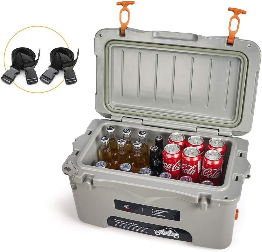 Lockable Rear Cooler Sealed Lid Keeps Ice In /& Mud Out UTV 26 Quart RZR Cooler Rear Cargo Box with Tie Down Straps Mounting Kit