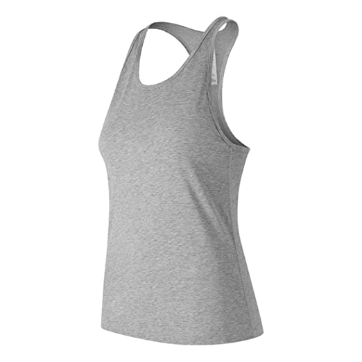 7475ae204c87a New Balance Women's Heather tech Racerback Tank, Athletic Grey, X-Large
