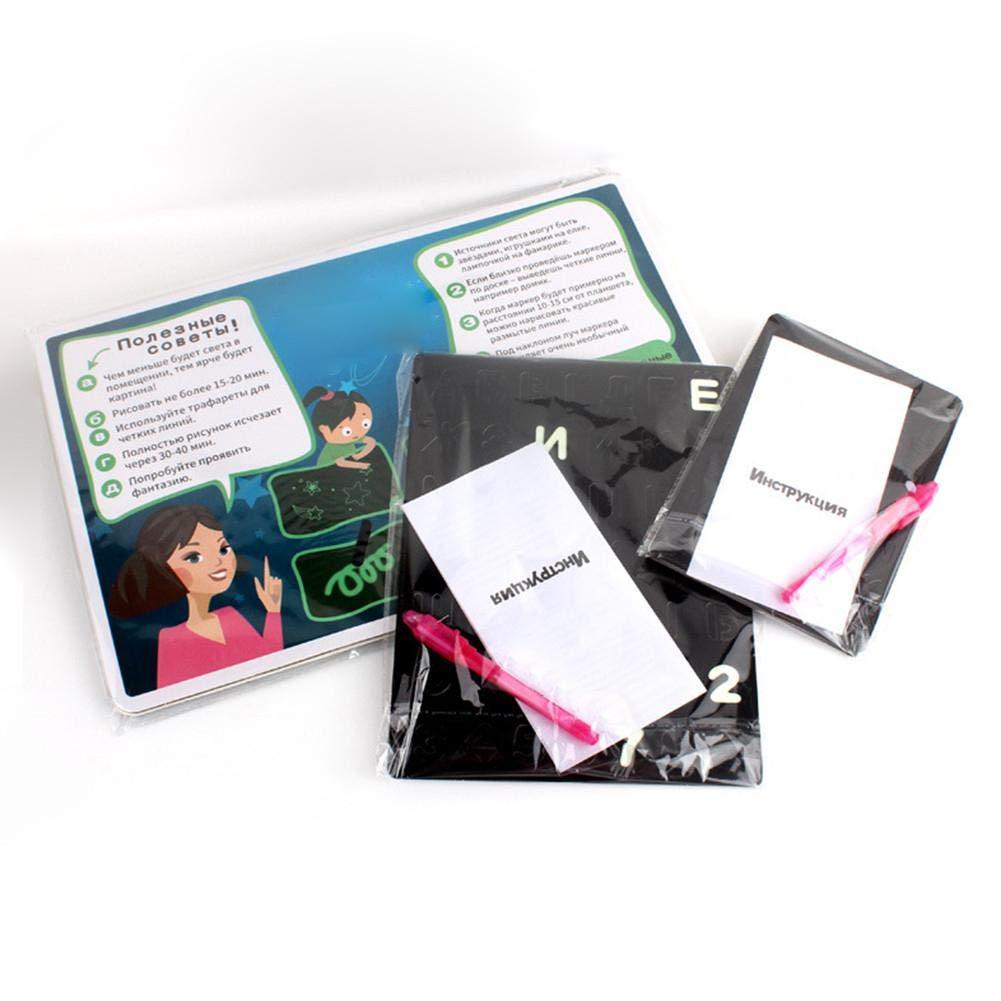 Coloridos Tableros De Garabatos con Luz De Dibujo Regalo De Cumplea/ños Divertido Y En Desarrollo para Ni/ños Peque/ños 36 Meses + Tableros De Garabatos para Escribir
