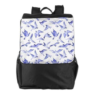 Flying Bird Blue Unisex Casual Shoulders Backpack