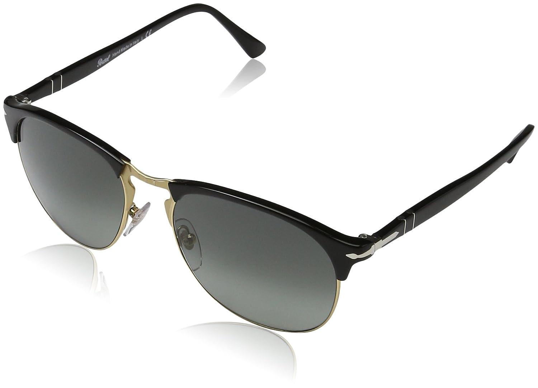 4c0d7f6c9c1c Persol Men's PO8649S Sunglasses Black/Gradient Grey 53mm at Amazon Men's  Clothing store:
