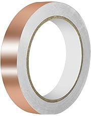 URXTRAL Cinta de cobre con adhesivo conductor, conductividad doble (20mmx20m) EMI Blindaje, vidrieras, manualidades, soldadura, circuitos de papel, reparaciones eléctricas Conexión a tierra