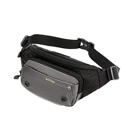 35b5fc00410ee Amazon.com | Leparvi Men Fanny Pack Multi Pockets Waist Bag Nylon ...