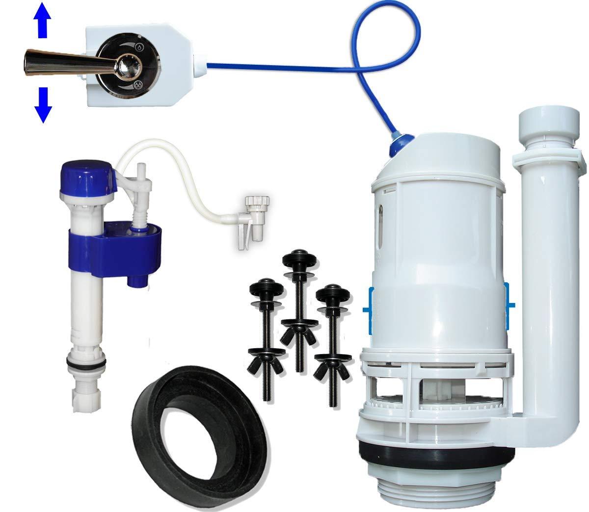 FlushSaver 3'' DRAIN STANDARD LEVER HANDLE Dual-Flush Deluxe DIY Conversion Kit - FITS STANDARD 3'' DRAIN TWO PIECE TOILETS. Converts standard toilets into efficient dual-flush systems. by Flush*Saver