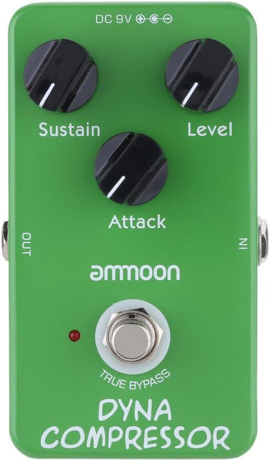 ammoon AP-05 Dinámica Compresor de Guitarra Efectos Pedal True Bypass