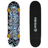 WIN.MAX Complete Skateboard 31 Inch Doodle + Free Skateboard Bag