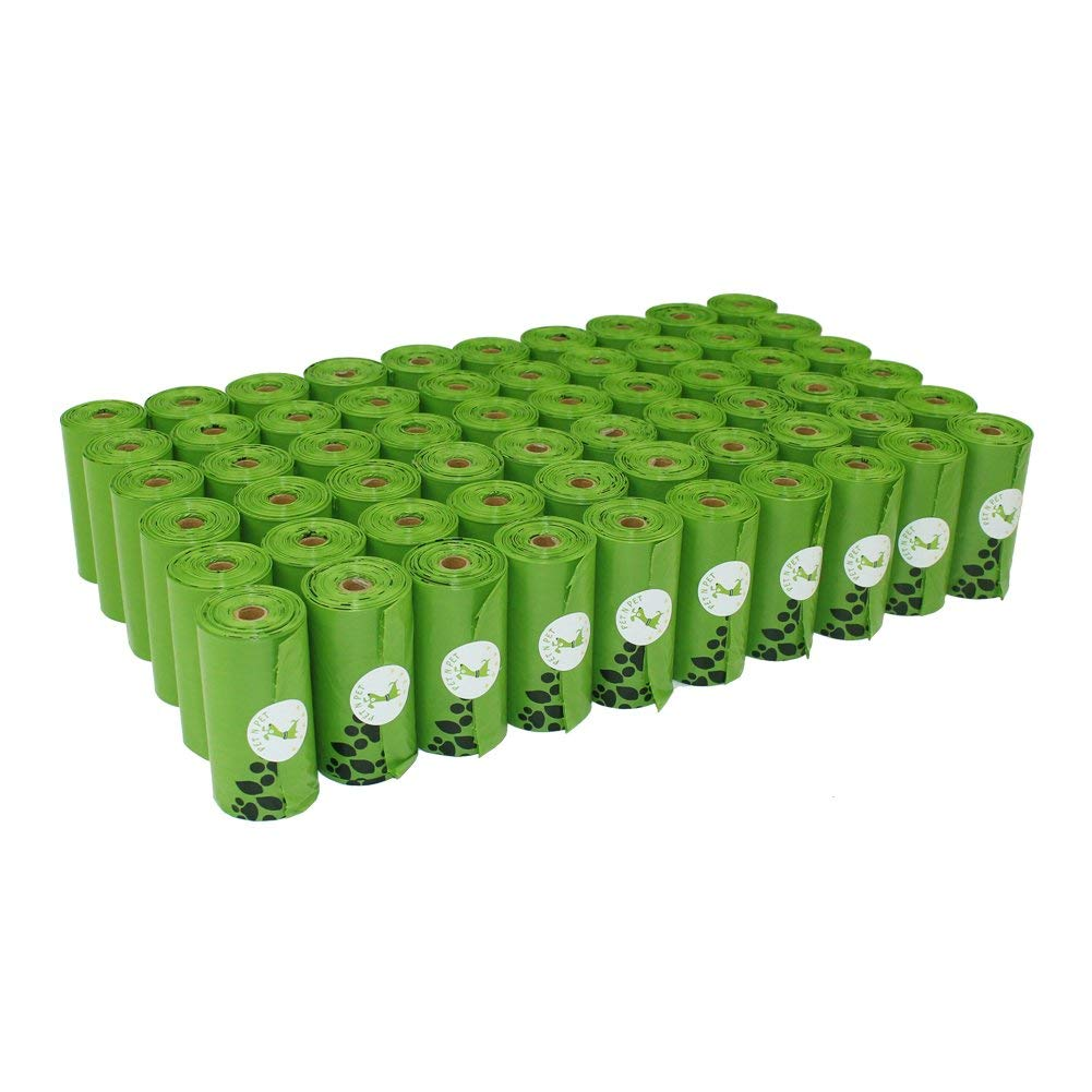 PET N PET Earth-Friendly 1080 Counts 60 Rolls Large Unscented Dog Waste Bags Doggie Bags Green Color by PET N PET