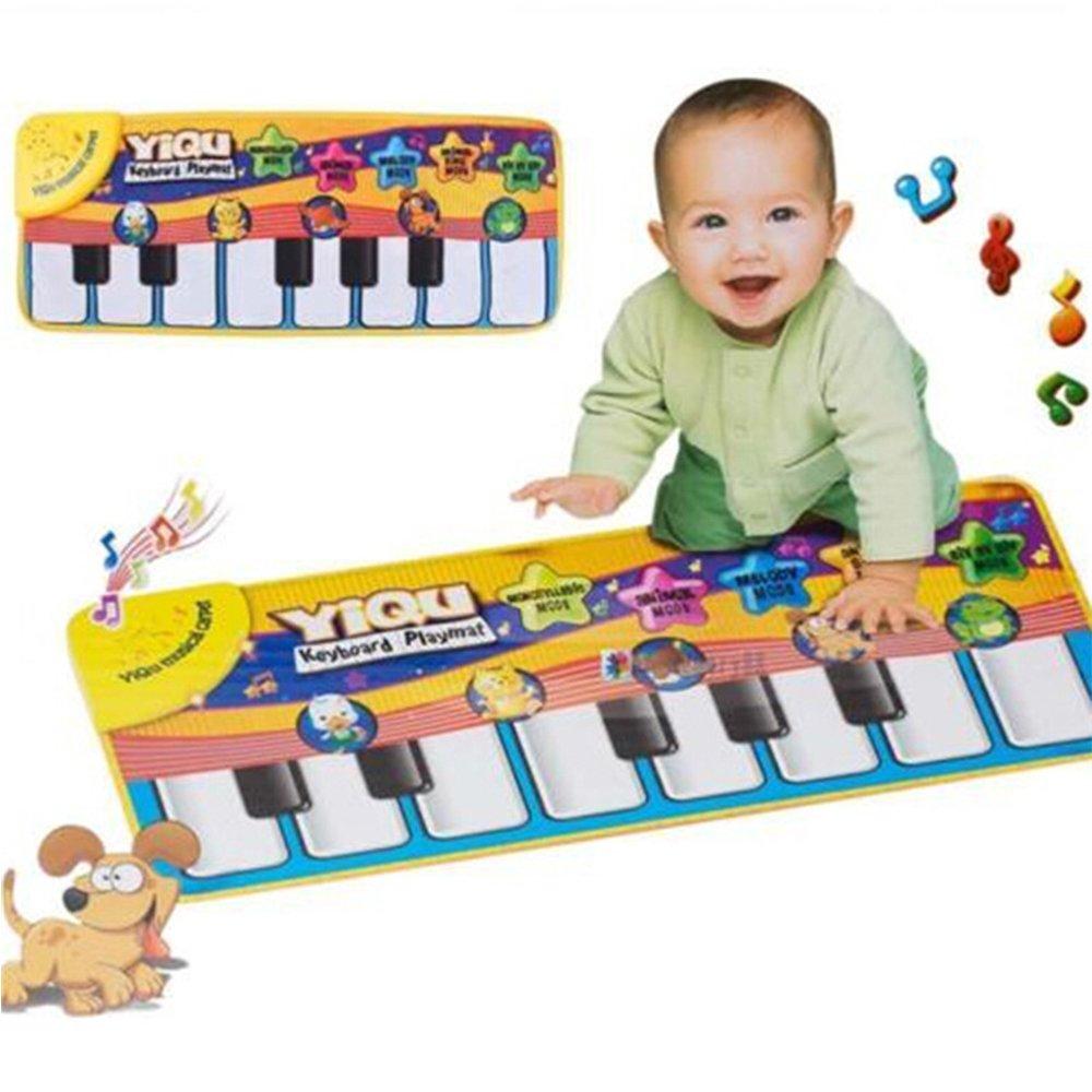 Musical Alfombras de Juego para Bebe,GZQES, Juguete del Piano Educativo,Juego Manta con Sonidos,Juego del Desarrollo Actividad