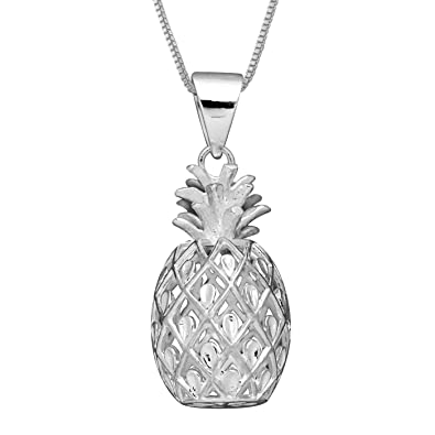 pendant heirloom silver hawaii makani pendants sterling products hawaiian l tone pineapple style two life jewelry