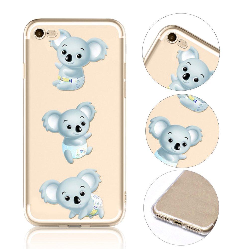 iPhone 8 Koala - Carcasa, qianyang iPhone 7/iPhone 8 4.7 pulgadas de animales de dibujo animado - Funda para iPhone 7/iPhone 8 4.7 pulgadas claro ...