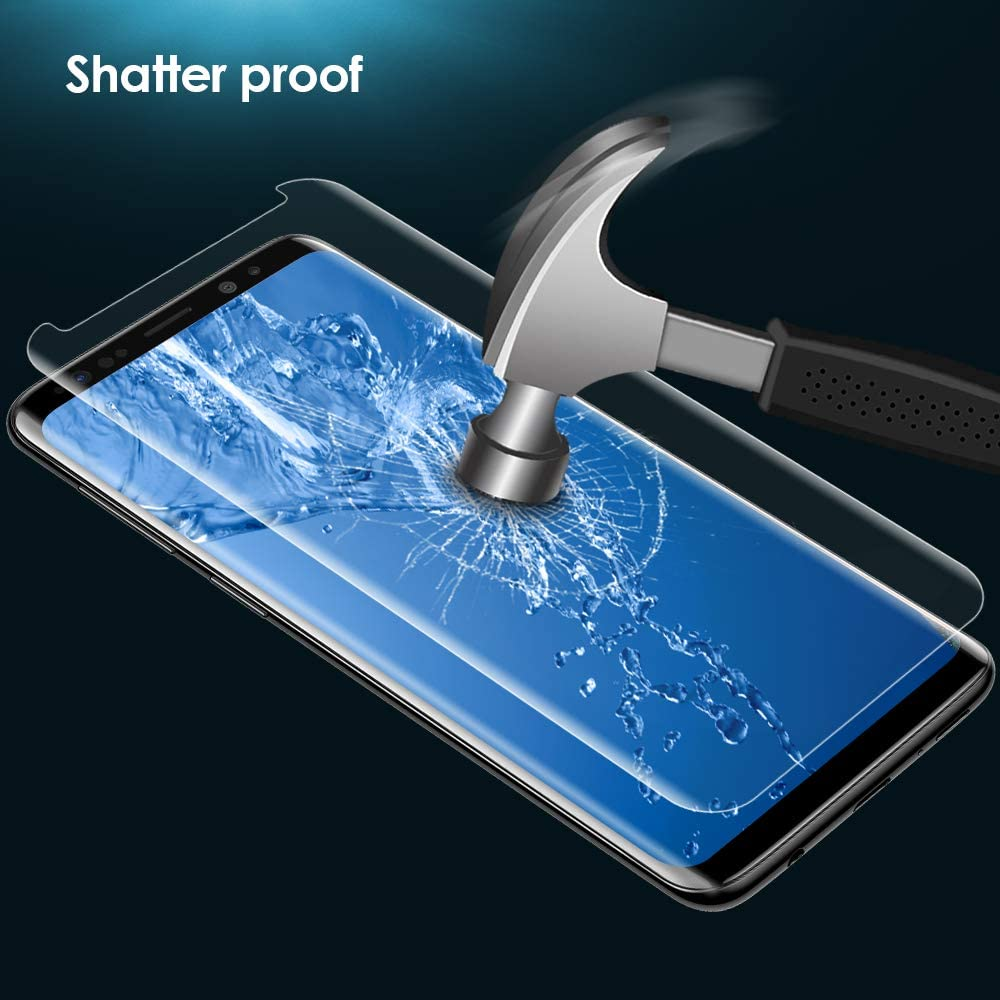 Case Friendly Tempered Glass Screen Protector for Samsung Galaxy S9 Plus High Response G-Color Screen Protector for Galaxy S9 Plus, Full Adhesive 3D Glass