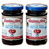 Mae Pranom Thai Chili Paste (Nam Prik Pao) 4 Oz. X 2 Jars by Mae Pranom