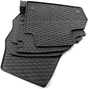All4you Gummimatten Original Qualität Fußmatten 100 Passgenau Schwarz Gummi 3 Teilig Fahrzeugspezifisch Auto