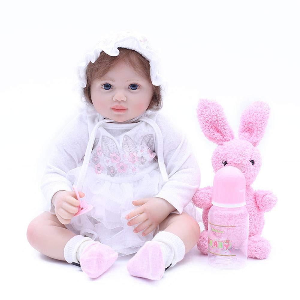 Reborn Baby Pretty Simulation Puppe Reborn Puppen Schlafenszeit Früherziehung für Kinder Geburtstagsgeschenk
