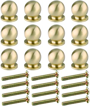 """10 small screw KNOBS pull handles antique solid pure brass drawer knob 19mm 3//4/"""""""