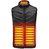 N/ Chaleco calefactable eléctrico,Carga USB,Abrigo calefactable 9 Zonas más Chaleco Calefactor de Terciopelo Chaleco…