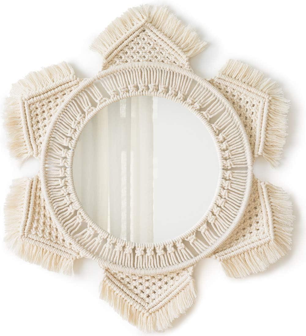 Wand Spiegel mit Makramee