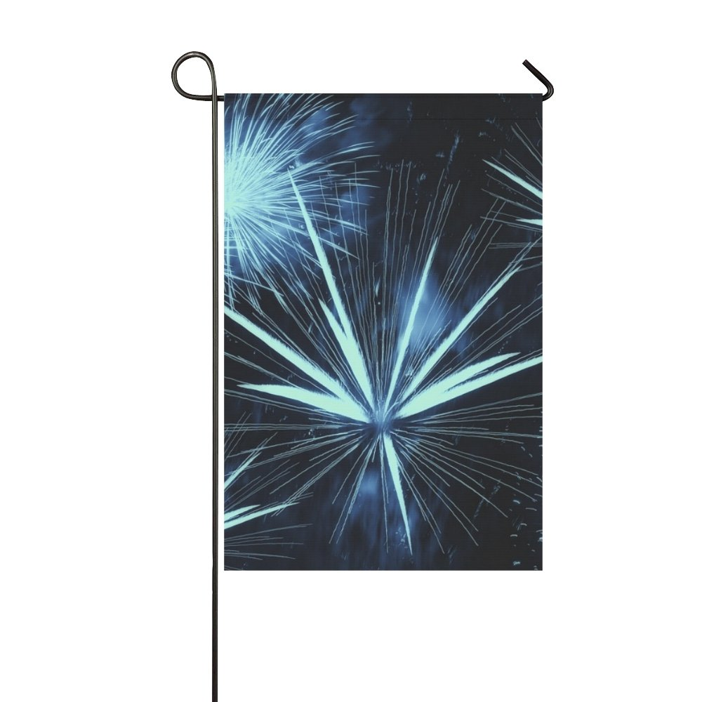 Home Decorative Outdoor Double Sided Fireworks Rocket Night Lights Explosion Sylvester Garden Flag,house Yard Flag,garden Yard Decorations,seasonal Welcome Outdoor Flag 12 X 18 Inch Spring Summer Gift