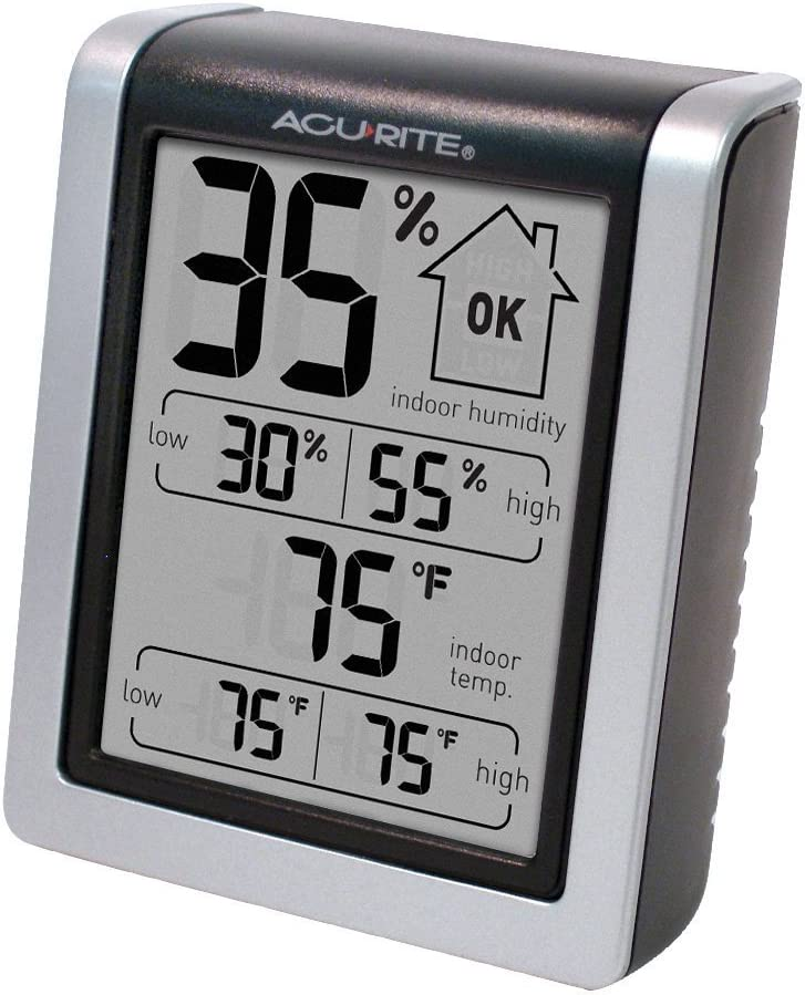 AcuRite 00613 Humidity Monitor with Indoor Thermometer Digital Hygrometer and Humidity Gauge Indicator 3-Pack