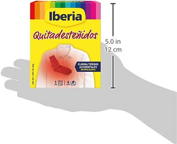 Iberia - Quitadesteñidos para eliminar desteñidos accidentales en ropa blanca, 200 g