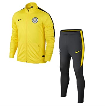 Nike MCFC Y NK Dry SQD TRK SUIT K Tracksuit Manchester City FC for ... 701bc78b5747d