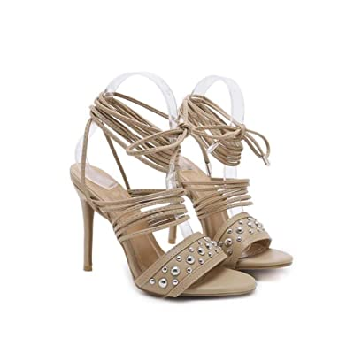 935ad14a94c 12cm Stiletto Cross Straps Sandales Robe Chaussures Femmes Pompe Open Toe  Slingbacks Ankle Strap Roma Chaussures