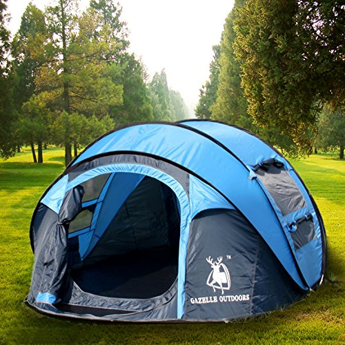 Gazelle Outdoors Large Instant Tent 4 Person Pop Up