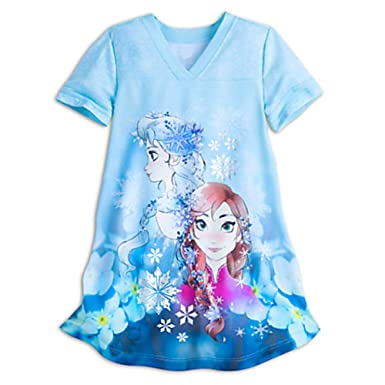 45a04c13d1a2 Disney Store Frozen Nightshirt with Silver Snowflakes for Girls Size 3