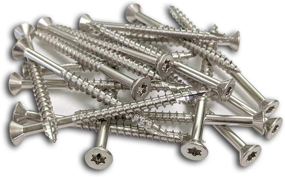 WoodPro Fasteners APSS9X212-1 T25 1LB NET WT 95-Piece #9 x 2-1//2-Inch S316 Stainless Steel All Purpose Screws