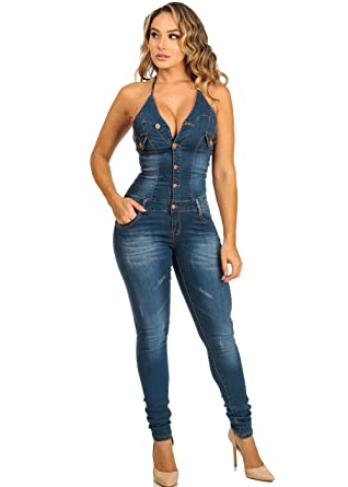 Amazon.com: Womens Juniors Sexy Tie Halter Butt-Lifting Denim ...