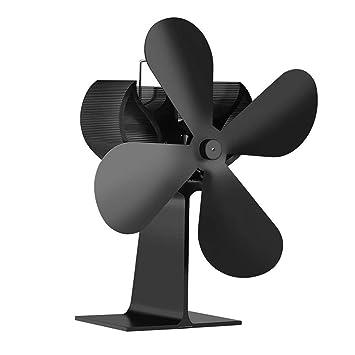 Chimenea térmica del ventilador eléctrico, ventilador de chimenea, estufa de calor del ventilador horno de leña registro Powered Ecofan Quiet Home chimenea ...