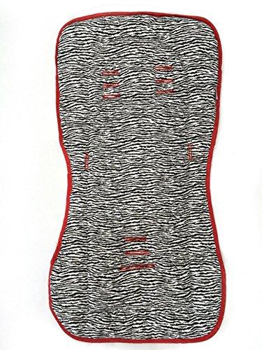 Capa para Carrinho Zebra, Alan Pierre Baby, Branco e Vermelho