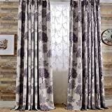 Cheap Leyden Grommet Top Modern Purple BigBig Trees Print Curtains Curtain Drapes – 72Wx63″L Multi Size Customizable(One Panel)