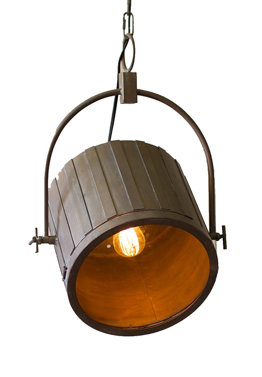 ADJUSTABLE PENDANT LIGHT W/ ANTIQUE BRASS FINISH