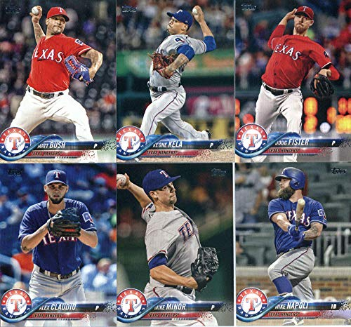 Texas Rangers Team Set - Texas Rangers 2018 Topps Complete Mint Hand Collated 21 Card Team Set with Elvis Andrus, Joey Gallo and Adrian Beltre plus