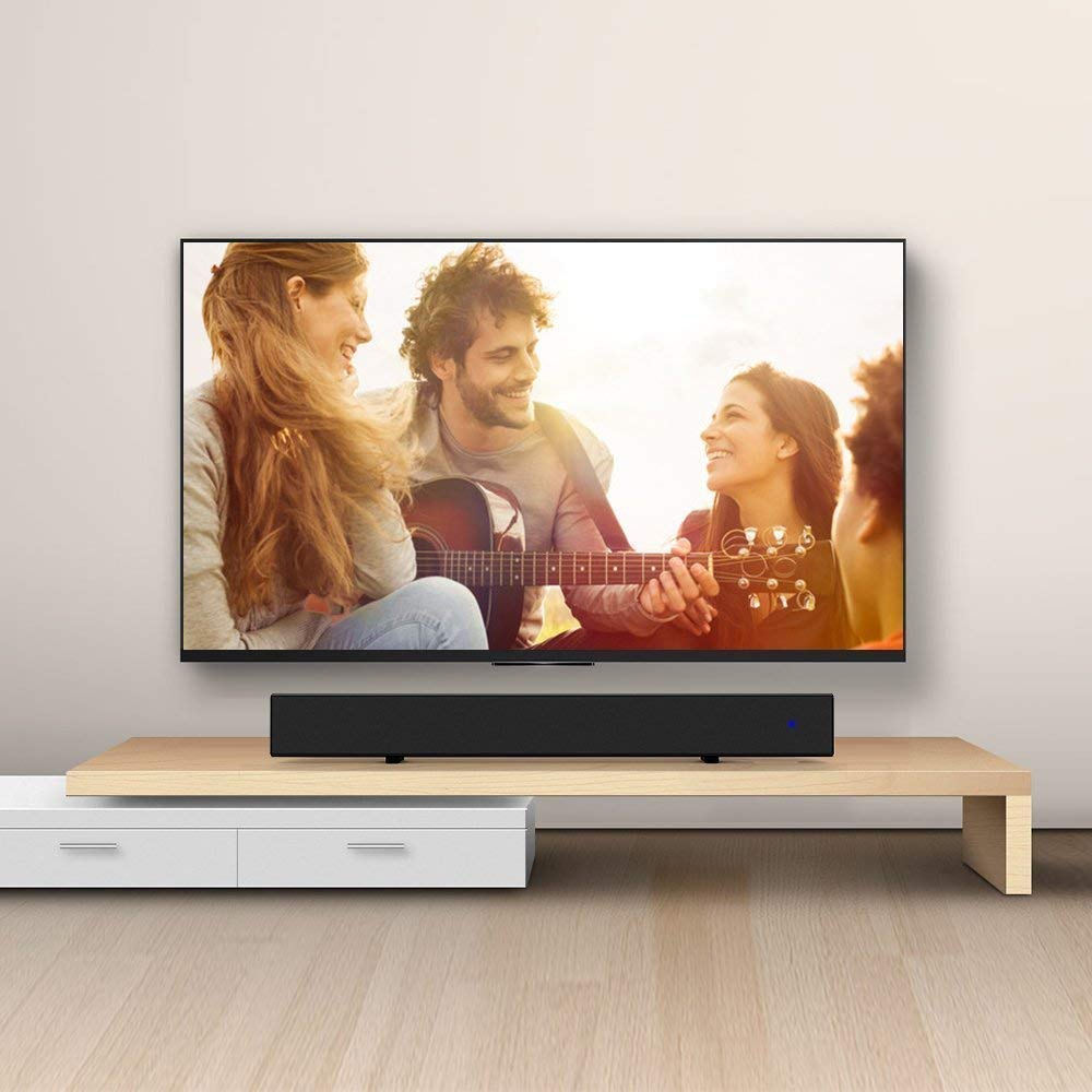 Sound Bar, Mighty Rock Sound Bars for TV 2.0 Channel Home Theater Speaker Wired and Wireless Surround Stereo Sound Audio for TV With Remote Control(2018 Updated)