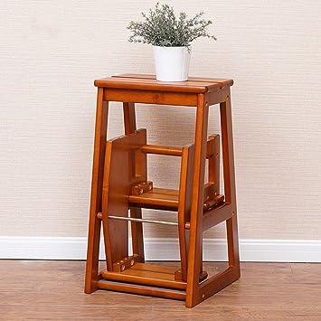 YIZ Muebles modernos Silla de escalera plegable de madera Taburete de 3 escalones Escalera de cocina plegable Compacta antideslizante 56 * 38 * 64Cm,color miel: Amazon.es: Bricolaje y herramientas