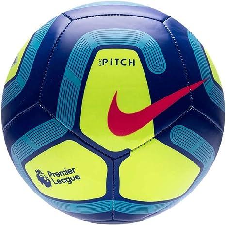 Nike Pitch Premier League Fútbol 2019-2020, Azul/Amarillo, Talla 3 ...