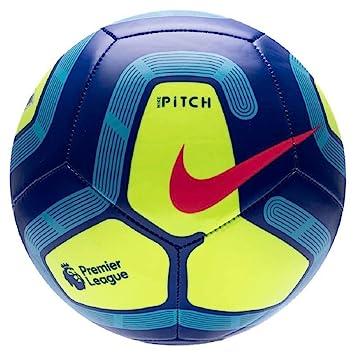 Nike Pitch Premier League Fútbol 2019-2020, Azul/Amarillo, Talla 4 ...