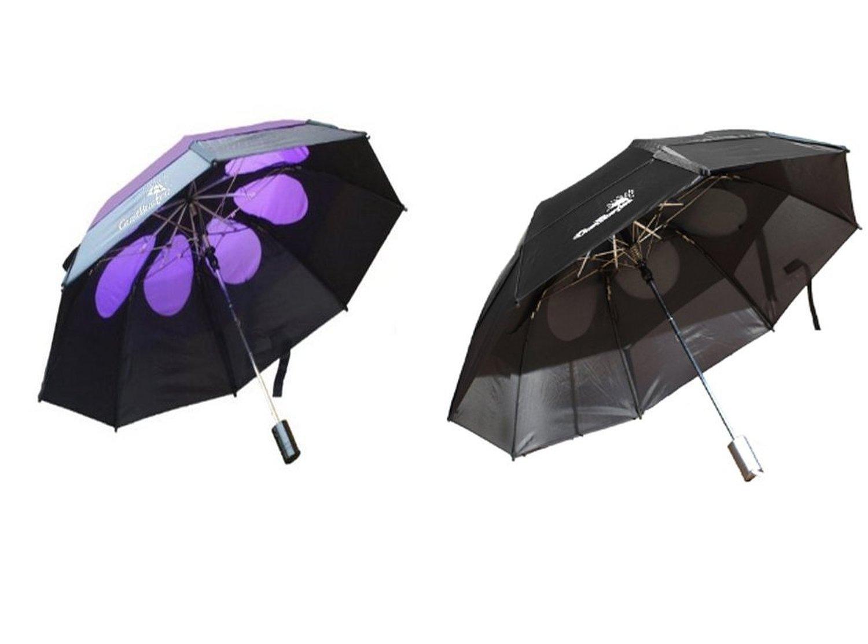 Gustbuster Metro Wind Resistant Signature Umbrellas 2 Pack Bundle, BlkBlkPurp