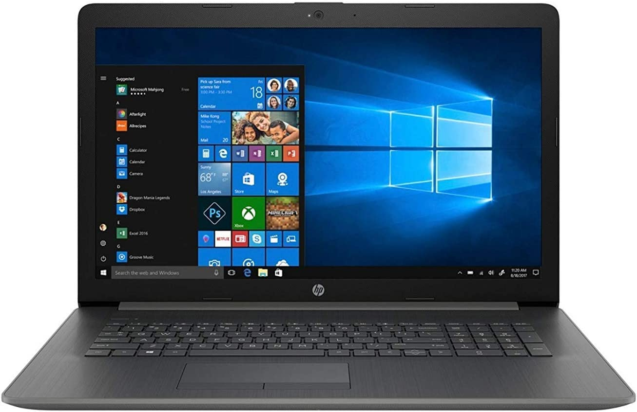 HP 17-by0053od Core i3-8130U Dual-Core 2.2GHz 4GB 1TB DVDRW 17.3HD+ Notebook W10H w/Cam & BT (Gray) (Renewed)