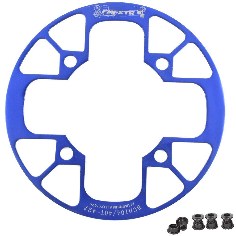 UPANBIKE Montain Bike Chainring Guard 104 BCD Aluminum Alloy Chain Ring Protector Cover for 32~34T 36~38T 40~42T Chainring Sprockets (Blue, 32T~34T) by UPANBIKE