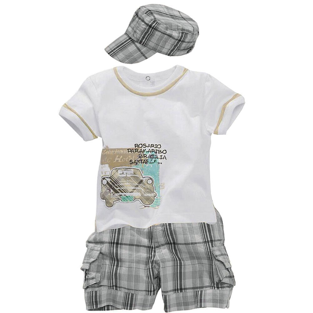 Guyizhai163 Ying LAN Baby Boys' Hats T-Shirts Shorts Outfits Cotton