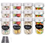 BPFY 12 Pack 8 oz Glass Mason Jars With Lids, Canning Jars for Jam, Honey, Baby Food, Candy, Cookie, Wedding Favor…