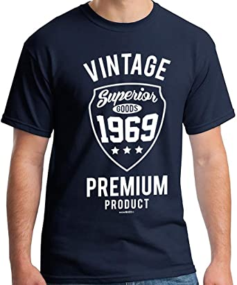3e5f3c0f7 50th Birthday Gifts Men Vintage Premium 1969 T-Shirt for Men Navy Blue:  Amazon.co.uk: Clothing