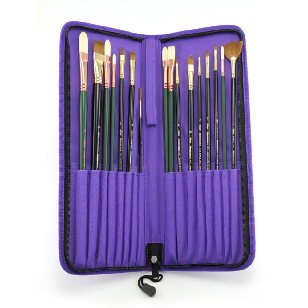 Silver Brush JL-7117 Johnnie Liliedahl Deluxe Portraiture Brush Set, 17 Per Pack