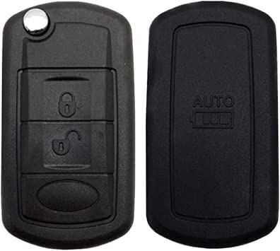 2 Buttons Keyless Entry Remote Uncut Car Key Fob Replacement Case Shell Outer Cover for Land Rover Discovery