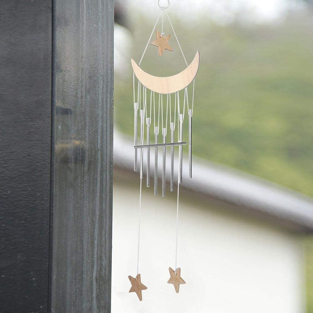AUNMAS Mond Sterne Windspiele Outdoor Wind Glocke Tinkling Home H/ängen Dekor Tiefe Ton Rohre Memorial Corinthian Glocken Burlywood