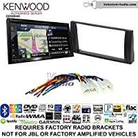 Volunteer Audio Kenwood Excelon DNX694S Double Din Radio Install Kit with GPS Navigation System Android Auto Apple CarPlay Fits 2002-2006 Non Amplified Toyota Camry